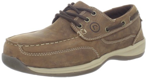 Rockport Works Men's Sailing Club 3 Eye Tie Boat Shoe,Tan,12 M US (Steel Toe Loafers compare prices)
