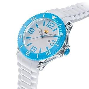 40Nine Men's 40NINE01/SKYBLUE3 Extra Large 50mm Analog Display Japanese Quartz White Watch