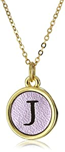 """Dillon Rogers Shimmering Metallic Pendant Necklace s Initial """"J"""" Necklace"""