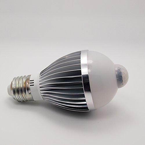 Choice-Key® 27 7W Pir Infrared Motion Detection Sensor & Light Sensor Led High Performance Energy Saving White Warm White Light Bulb