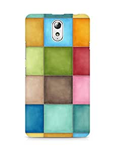 Amez designer printed 3d premium high quality back case cover for Lenovo Vibe P1M (Pastel squares)
