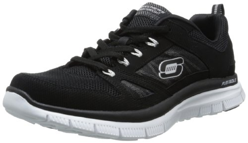 Skechers Flex Advantage Tune In, Sneaker uomo, Schwarz (Bkw), 41 (7 UK)