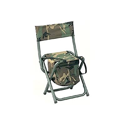 Deluxe Woodland Camouflage Folding Chair w/Pouch