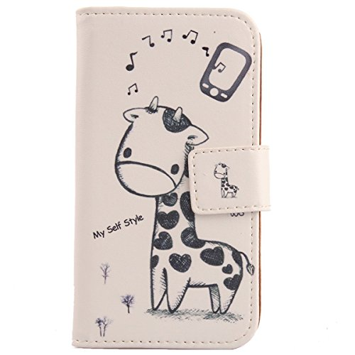 Lankashi Pattern Design PU Flip Leather Cover Skin Protection Case for Elephone P2000 (Giraffe)