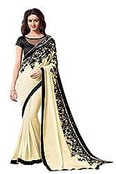 SRP Fashion Selection Women's Chiffon Saree(SRP-OF131,Beige)