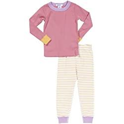 Serena & Lily Boys' Solid & Stripes Longjohns (Toddler/Kid) - Pink - 5 Years