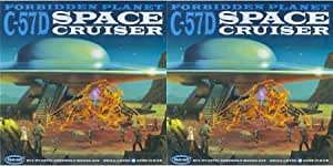 A PAIR (2) of NEW Forbidden Planet C-57D Space Cruiser 1/72 Model Kit Polar Lights