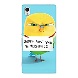 Cute Sorry Back Case Cover for Xperia M4 Aqua