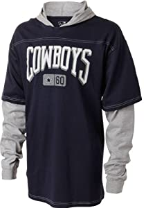 Dallas Cowboys Youth Navy Kick off Layered Hoodie by NFL