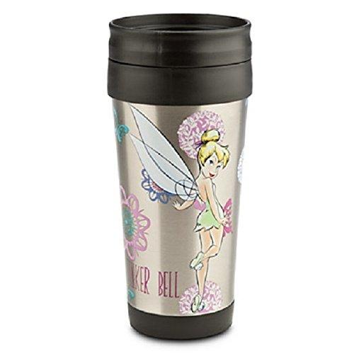 Disney Tinker Bell Aluminum Travel Coffee Cup Mug New