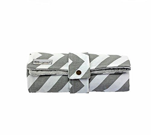 MEG Original Gray & White Chevron Stripe Travel Changer Baby Changing Pad