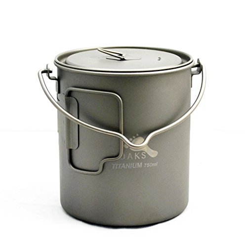 TOAKS Titanium 750ml Pot with Bail Handle (Titanium Pot Backpacking compare prices)