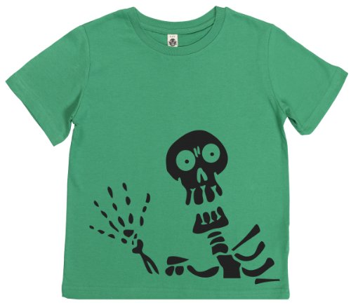 Phunky Buddha - Skeleton Toddler Top 3-4 Yrs - Green front-925027