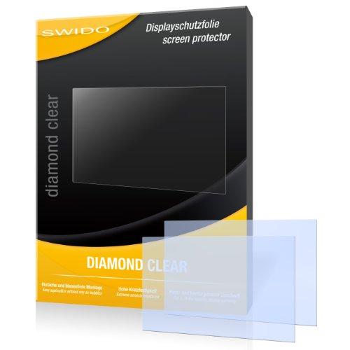 2 x SWIDO Diamond Clear Displayschutzfolie für Canon Powershot SX260 HS / SX260HS / SX-260 HS - Displayschutz kristallklar und hartbeschichtet! PREMIUM QUALITÄT - Made in Germany