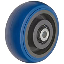 "RWM Casters Signature Premium Rubber Wheel, Precision Ball Bearing, 500 lbs Capacity, 5"" Wheel, Dia, 2"" Wheel, Width, 2-7/16"" Plate Length"
