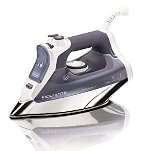 Rowenta DW8080 Pro Master Auto-Off Steam Iron with 400-Hole Stainless Steel Soleplate, 1700-Watt, Blue