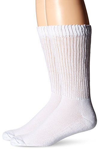 Dr. Scholl's Men's 2 Pack Diabetes and Circulatory Socks,  White, Shoe: 13-15