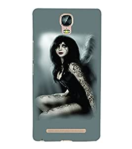 PrintVisa Hot & Sexy Angel Girl 3D Hard Polycarbonate Designer Back Case Cover for Gionee Marathon M5 Plus