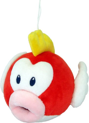 "Official Nintendo Mario Plush Series Stuffed Toy - 6"" Pukupuku / Cheep Cheep (Japanese Import)"