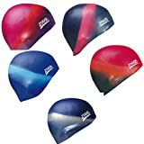 Zoggs Multi Colour Silicone Swimming Cap Shaped For Superior Fit