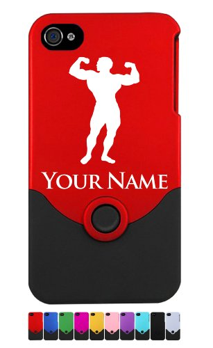 Engraved iPhone 4/4S Case/Cover – BODYBUILDER, MUSCLE MAN – Personalized for FREE (Send us an Amazon email after purchase with your engraving request)