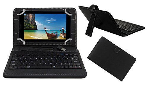ACM PREMIUM USB KEYBOARD TABLET CASE HOLDER COVER FOR IBALL SLIDE 7236 2G With Free MICRO USB OTG - BLACK