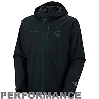 NCAA Columbia Alabama Crimson Tide Hail Tech Performance Full Zip Jacket - Black by Columbia