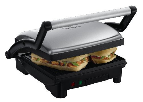 Russell Hobbs 17888-56 Scalda Panini/Grill 3-in-1 Cook&Home, Nero/Acciaio