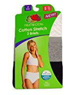 Fruit of the Loom Women's 3-Pack Cotton Stretch Briefs