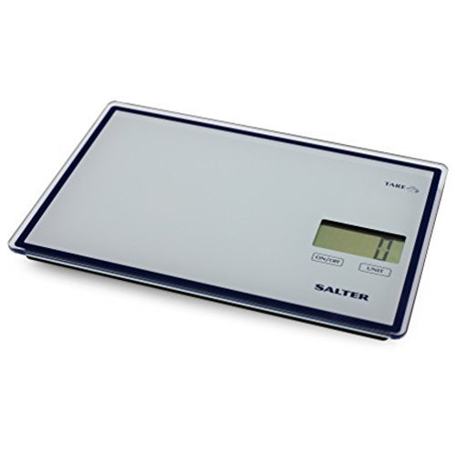 Salter Touchless Tare Digital Kitchen Scale, White by Taylor Precision Products