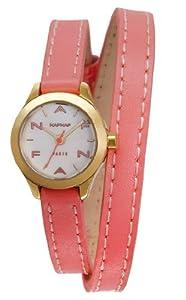 Naf Naf - N10112-111 - Minny - Montre Femme - Quartz Analogique - Cadran Nacre - Bracelet Cuir Rose