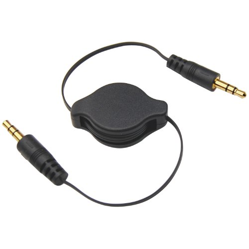 TRIXES Ausziehbares Audiokabel mit 3,5-mm-Aux-Stecker für Handys und MP3-Player.