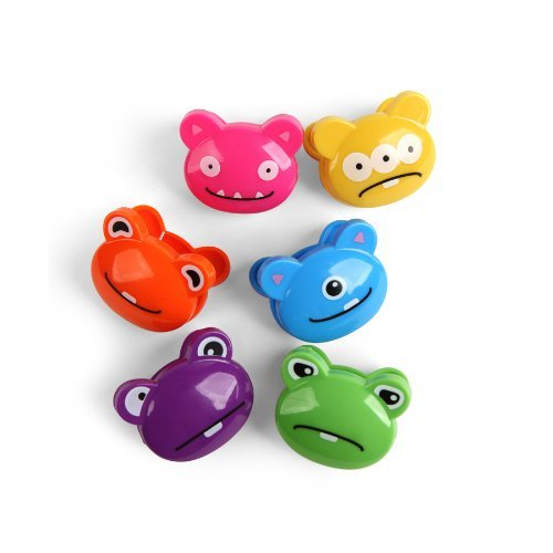 Kikkerland Monsters Bag Clips, Set of 12