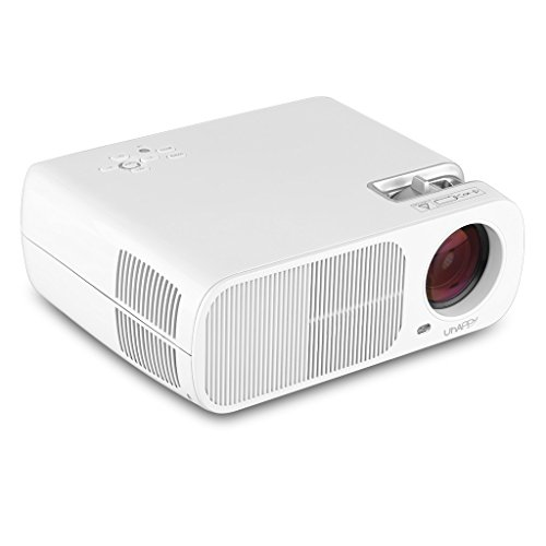 Uhappy Mini LED Proiettore 2600 ANSI Lumens LCD Multimediale Home Cinema Theater 800 * 480 USB/HDMI/ATV/AV/VGA Supporto 1080P(Bianco)