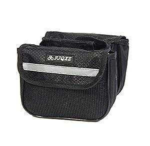 Fjqxz Ourdoor Multifunctional Expansible Waterproof Black Bicycle Saddle Bag