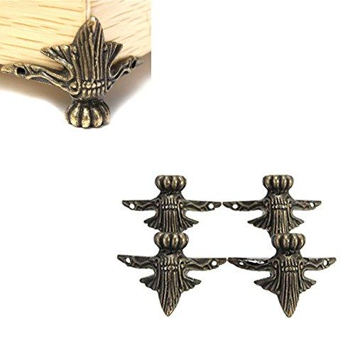 hrph-4pcs-antike-messingschmucksache-geschenk-kasten-holz-kasten-dekorative-fusse-bein-eckenschutz