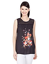 Elle Women's Body Blouse Shirt (Eeto0111_Black_Medium)