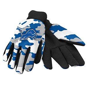 NFL Detroit Lions Camouflage Utility Gloves, Blue