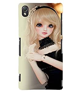 Printvisa Baby Doll Dressed Up In Black Back Case Cover for Sony Xperia Z3::Sony Xperia Z3 D6653 D6603