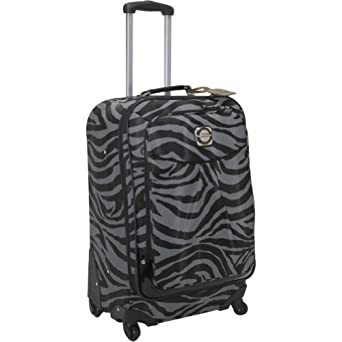 "Kathy Van Zeeland Travelware Exotic Edge 24"" Exp Spinner (Grey/Black)"