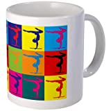 Gymnastics Pop Art Mug Mug by CafePress