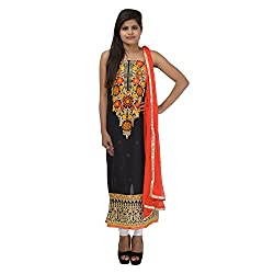 Kashish Creations Women Resham Multi-Coloured Semi Stitched Salwar Suit