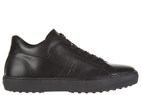 Tod's scarpe sneakers uomo in pelle nuove allacciato fondo cassetta nero EU 40.5 XXM0UN0K8307WRB999