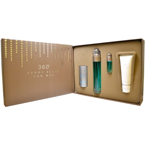 great colognes for men:360 by Perry Ellis for Men Gift Set