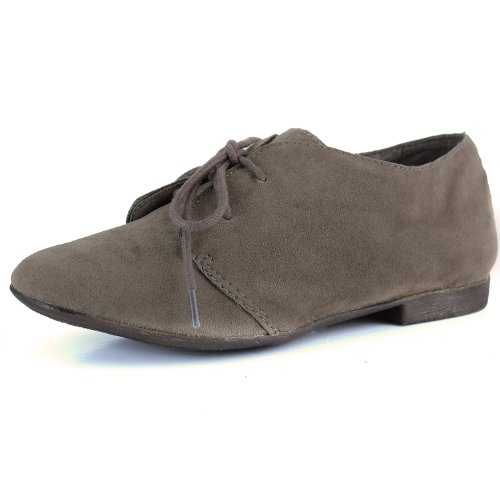 Women's Classic Lace Up Flat Oxford Sneaker Desert Ankle Taupe Shoes, 7,7 B(M) US