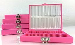 Microscope Slide Storage Box, 100pcs Pink