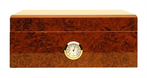Humidor hold 25 cigars hygrometer outside