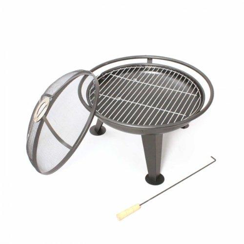 Blaze FirePit 55cm Brazier Garden Outdoor Patio Round Fire Pit