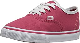 Vans Toddlers Authentic (Pop Binding) Claret Red/True White VN0001T0IHP Toddler 10