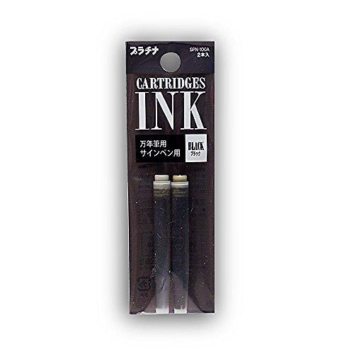 Platine Preppy Recharges d'encre pour stylo 2/pk Noir